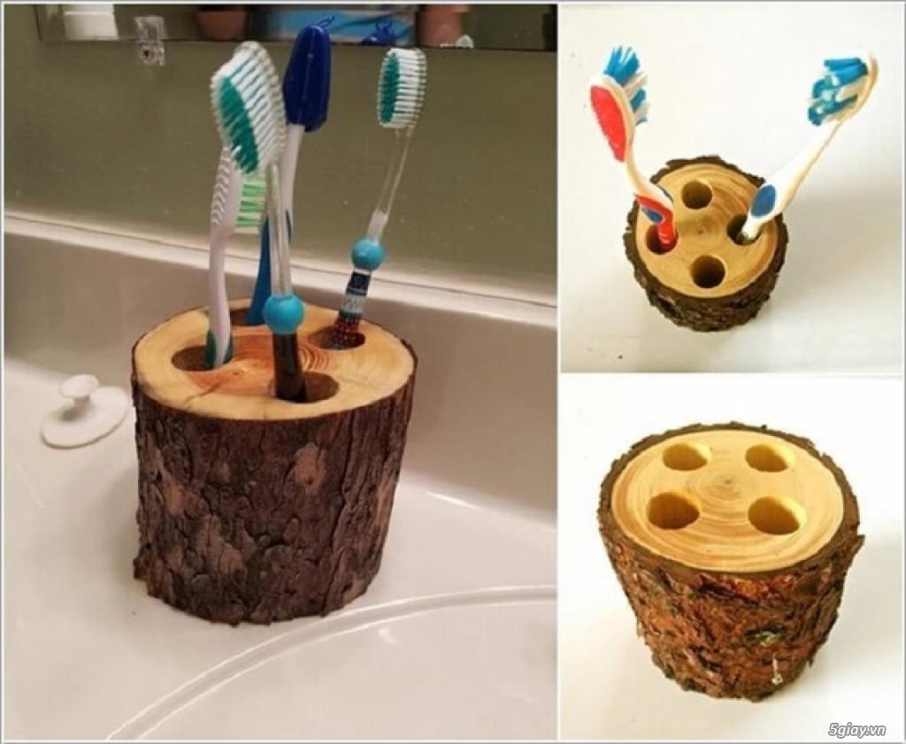 10 cách tái chế hoàn hảo để cất giữ bàn chải đánh răng - 9
