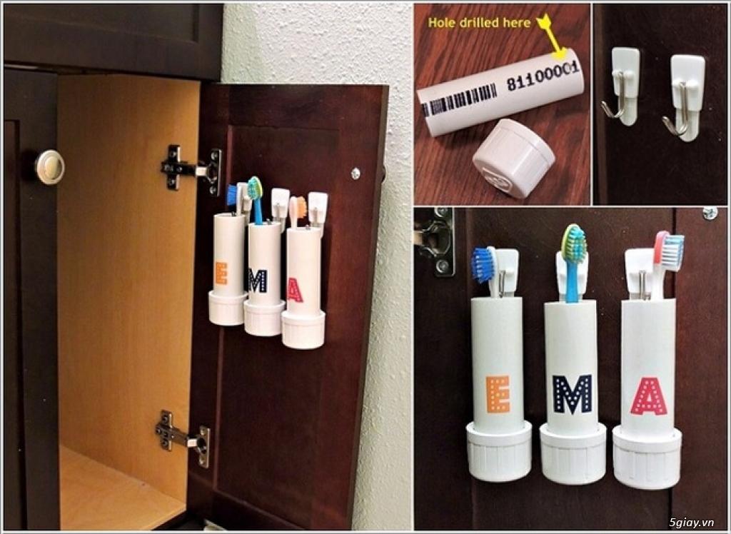 10 cách tái chế hoàn hảo để cất giữ bàn chải đánh răng - 1