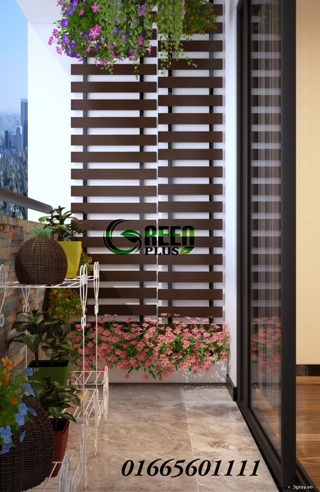 Giàn hoa ban công, thiết kế trang trí ban công chung cư - 4