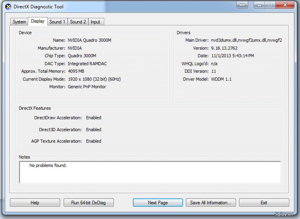 Dell Precision M6600 i7 2760QM - 20Gb DDR3 giá chỉ 12.5triệu - 2