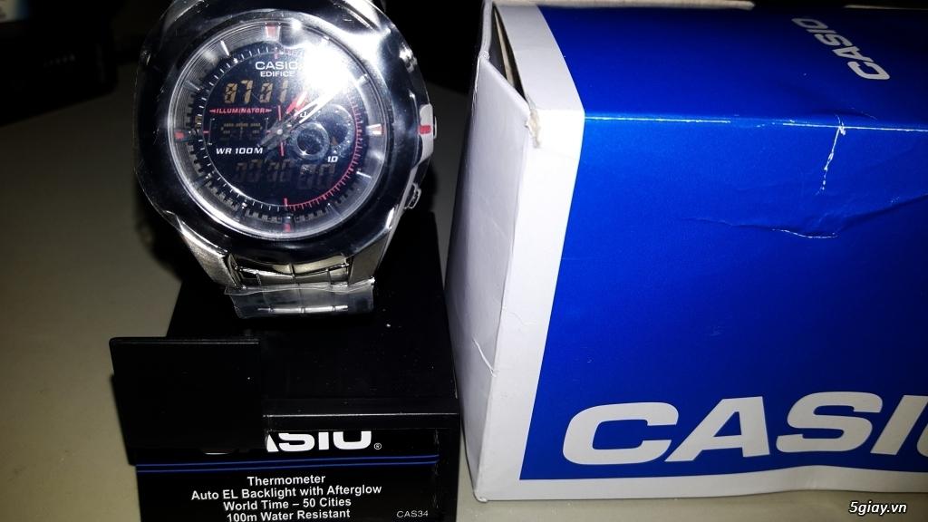 Cần bán đồng hồ Casio EFA119BK-1AV Hàng Mỹ - 1