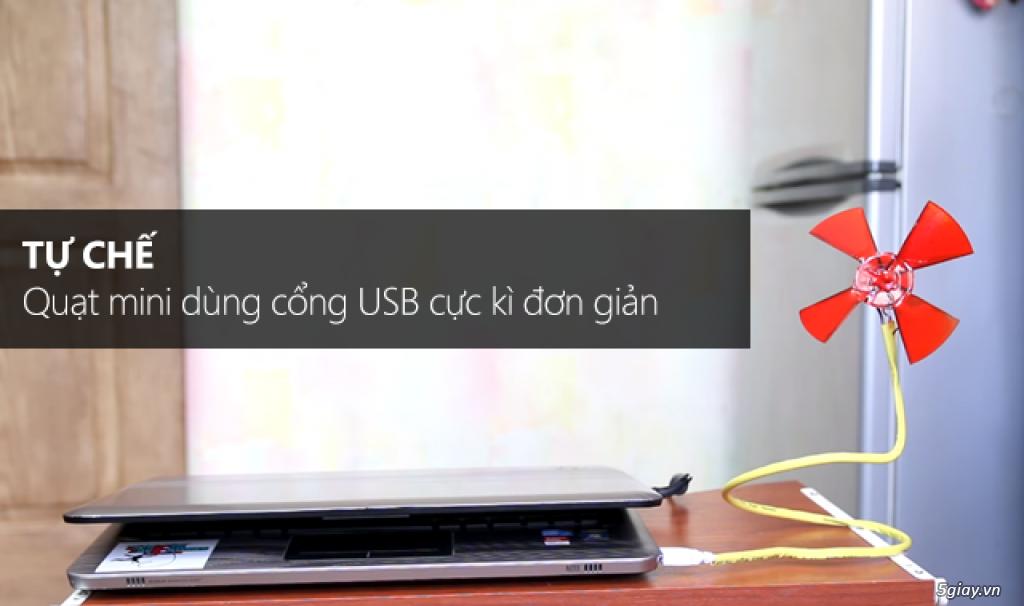 Tự chế quạt mini dùng cổng USB cực kì đơn giản - 197741