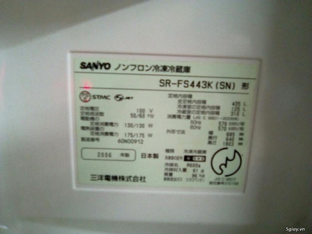 Tủ lạnh Nội địa Sanyo 6 cánh - BH 1 năm - 2