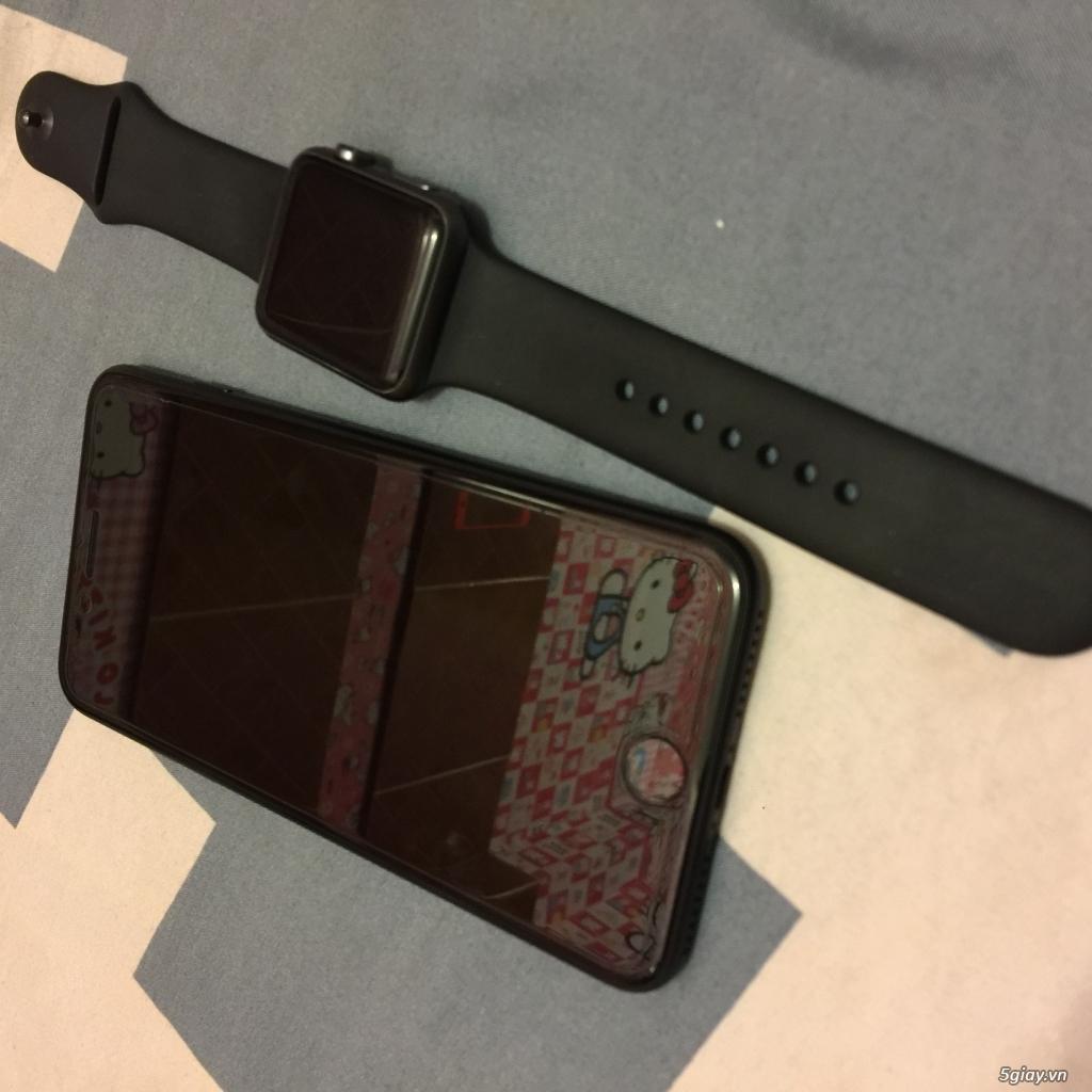 (Ip7+128GB black Full Box bảo hành) 2 cây 6+ gray và gold - 5