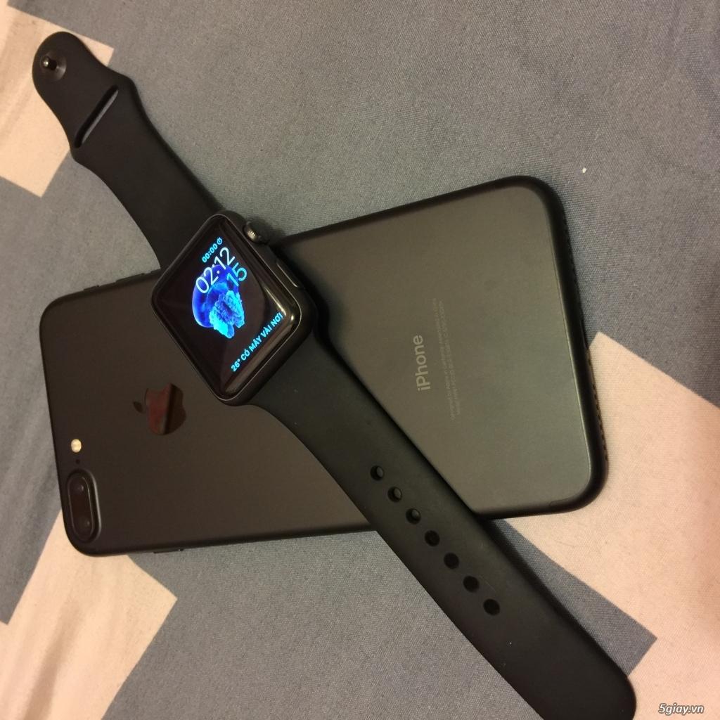 (Ip7+128GB black Full Box bảo hành) 2 cây 6+ gray và gold - 7