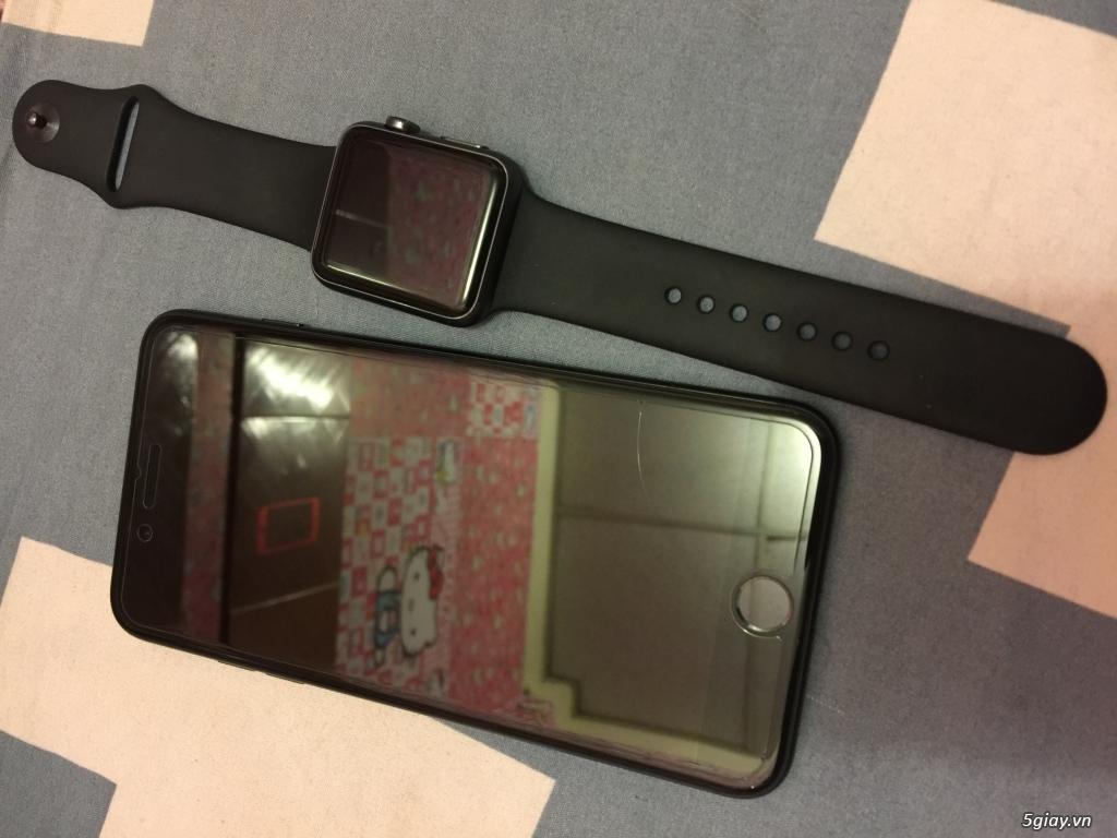 (Ip7+128GB black Full Box bảo hành) 2 cây 6+ gray và gold - 3