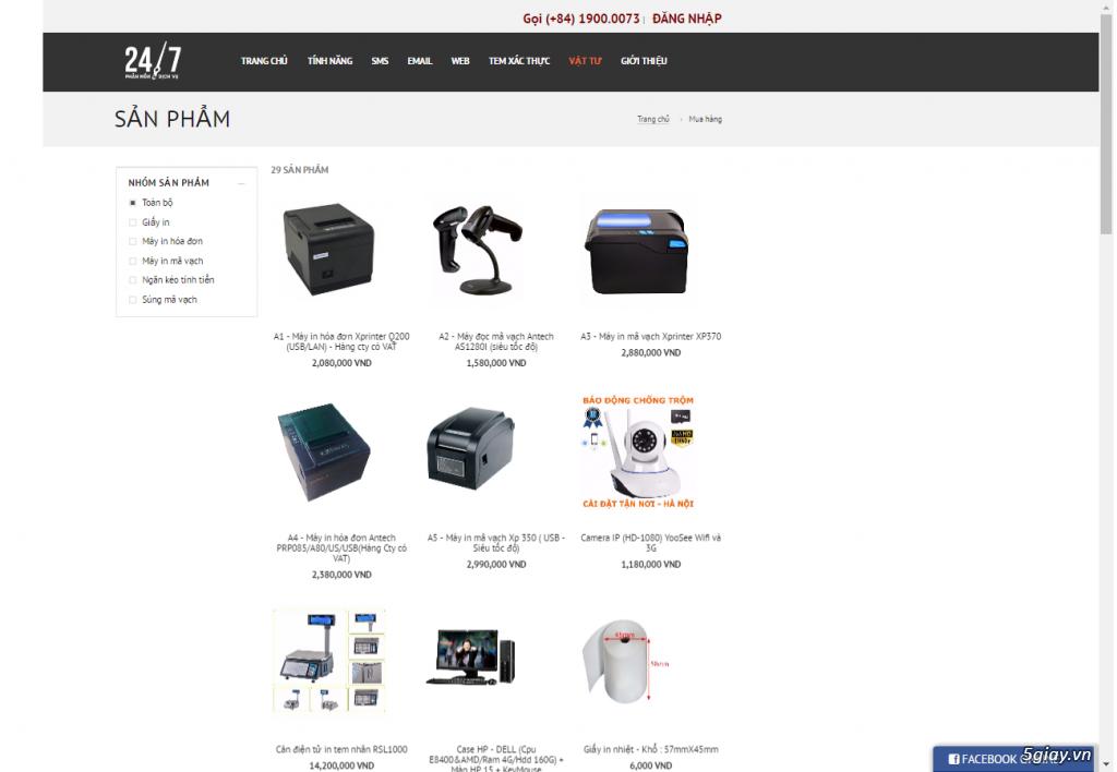 Phần mềm quản lí nhà hàng online - thiết bị bán hàng  S247.VN - 2