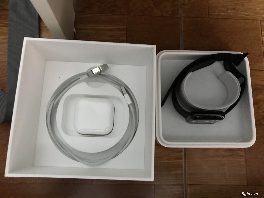Apple watch series 2 stainless steel black như mới fullbox