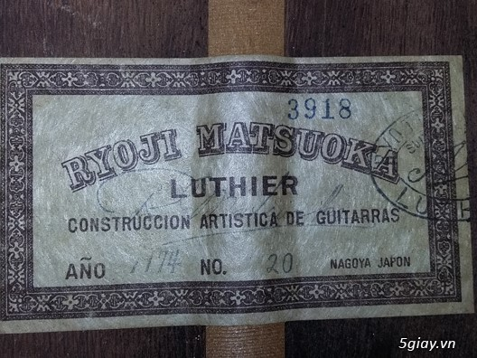 Matsouka guitar  No 30, Matsouka No 100 và Matsouka No 121 Nhật - 6