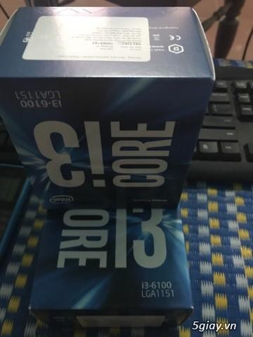 Chip intel i3 6100 3.7 ghz  full hộp + full bảo hành viết sơn =giá mềm - 2