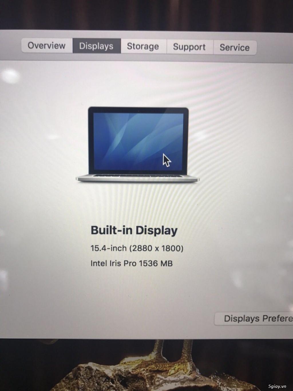 Bán Macbook Pro Retina 15.4 Core i7 2.3Ghz- 16GB -SSD 512GB - Card rời - 6