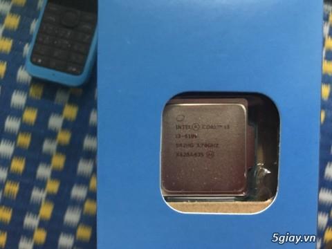 Chip intel i3 6100 3.7 ghz  full hộp + full bảo hành viết sơn =giá mềm