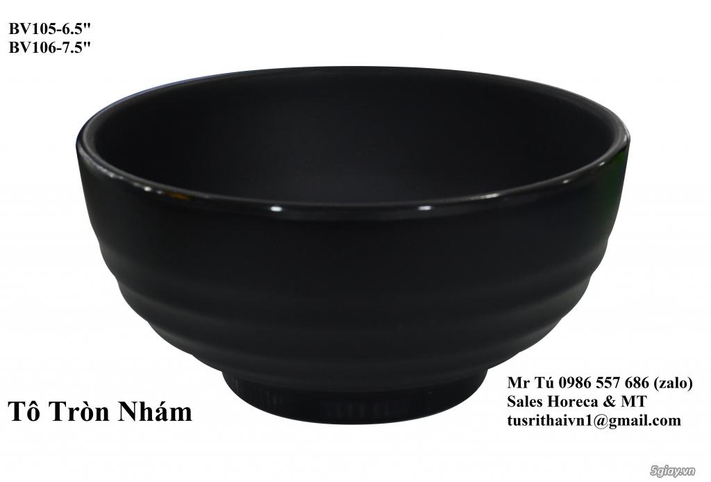 Bát Đĩa Thái Lan Bộ Đen Nhám Dành Cho BBQ - 5