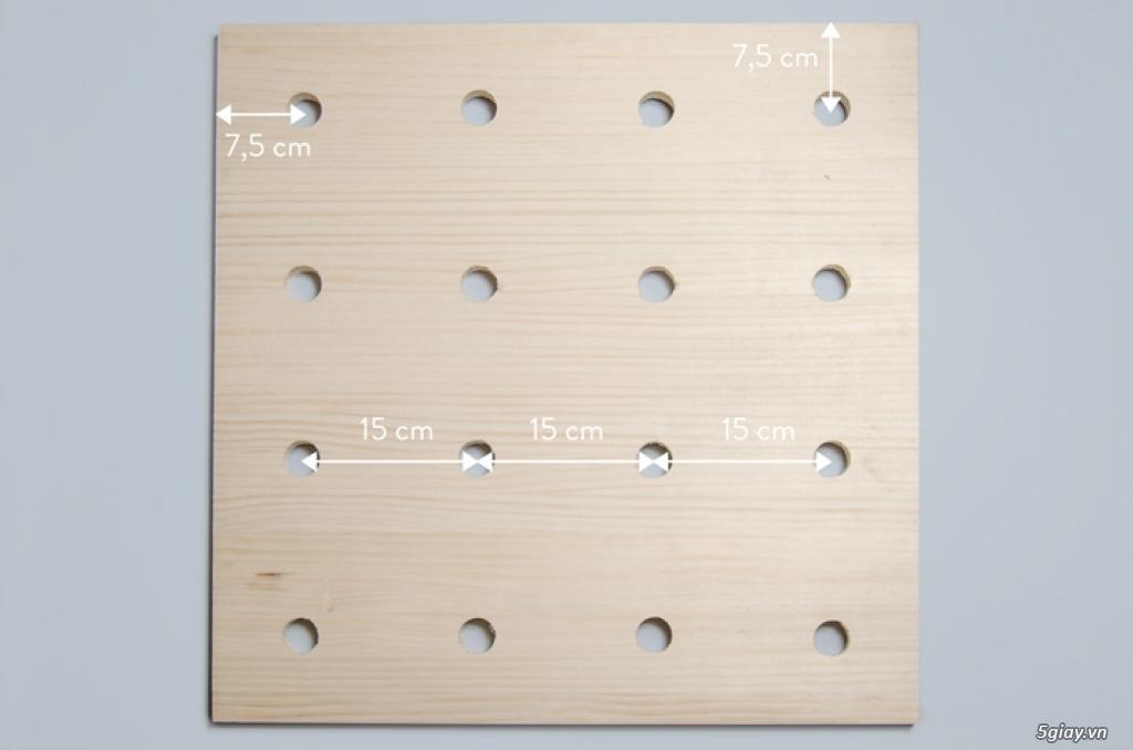Kệ treo tường kiểu xếp hình - 197760
