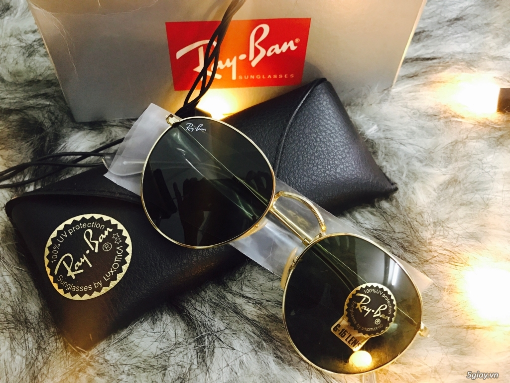 Kính Rayban RB3447 Round Metal authentic fullbox 100%. - 4