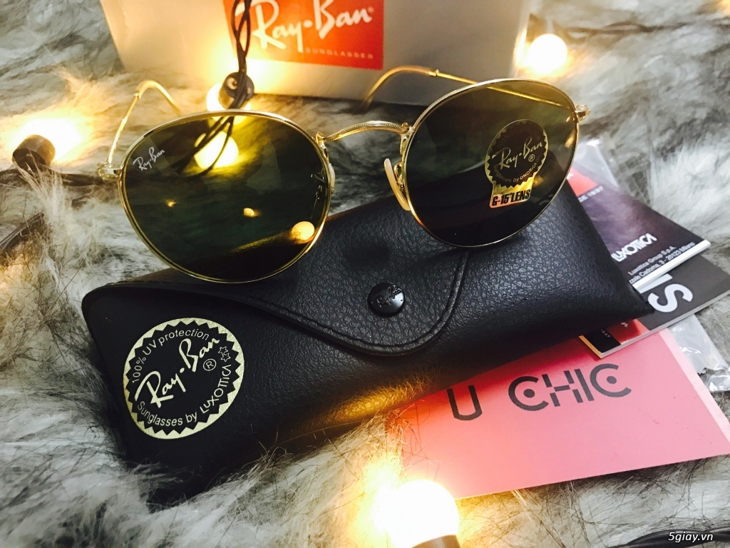 Kính Rayban RB3447 Round Metal authentic fullbox 100%. - 2