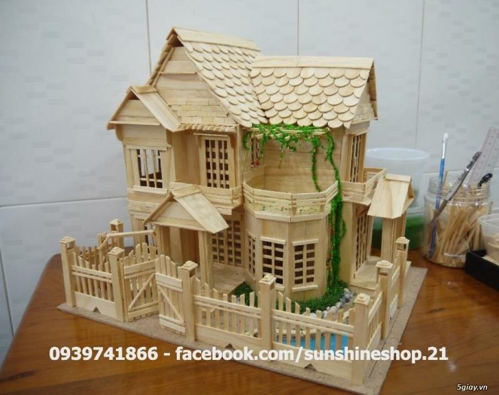 SunShineShop - Nhận đặt làm mô hình nhà que theo yêu cầu - 45