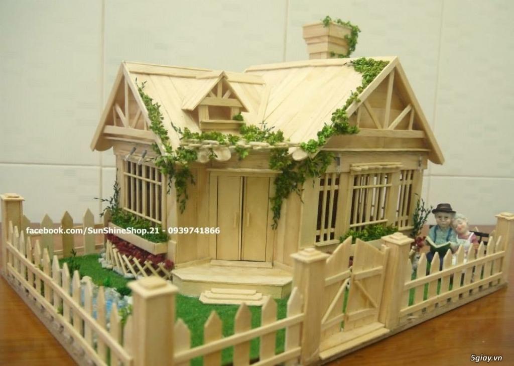 SunShineShop - Nhận đặt làm mô hình nhà que theo yêu cầu - 43