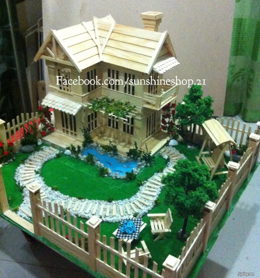 SunShineShop - Nhận đặt làm mô hình nhà que theo yêu cầu - 32
