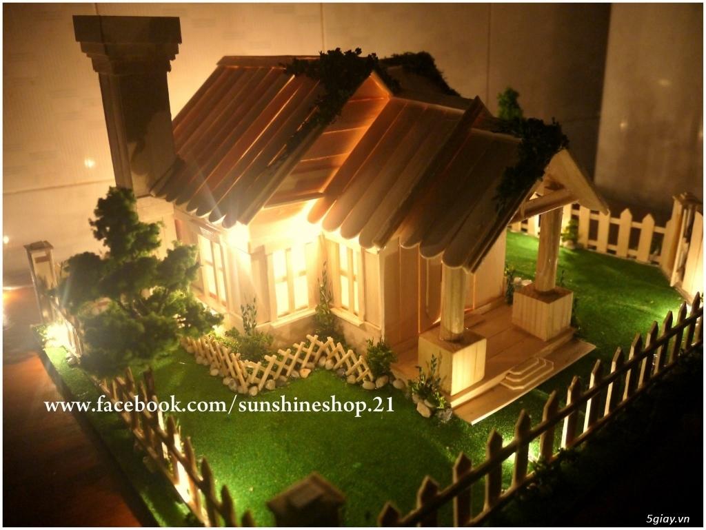SunShineShop - Nhận đặt làm mô hình nhà que theo yêu cầu - 40
