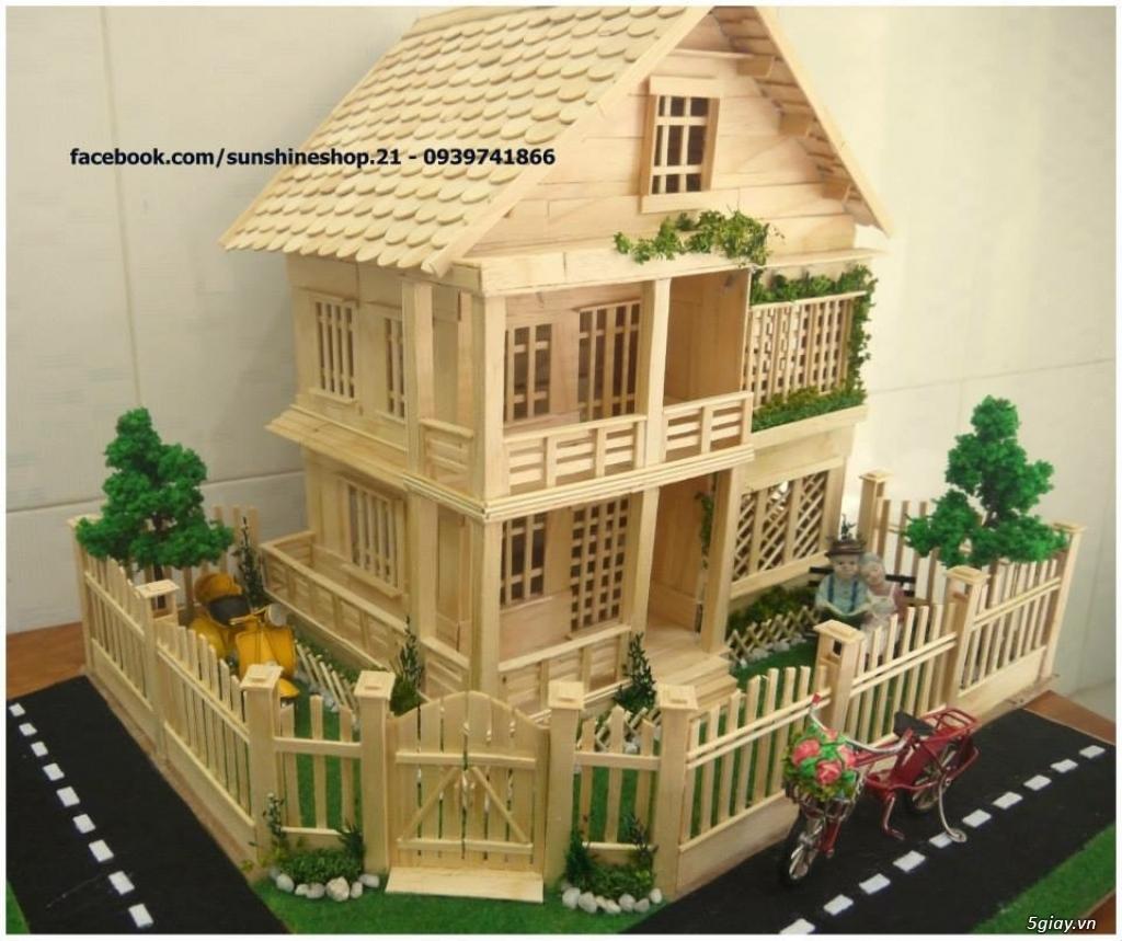 SunShineShop - Nhận đặt làm mô hình nhà que theo yêu cầu - 37