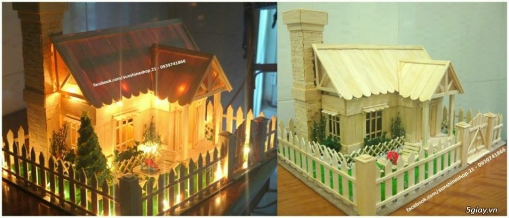 SunShineShop - Nhận đặt làm mô hình nhà que theo yêu cầu - 34