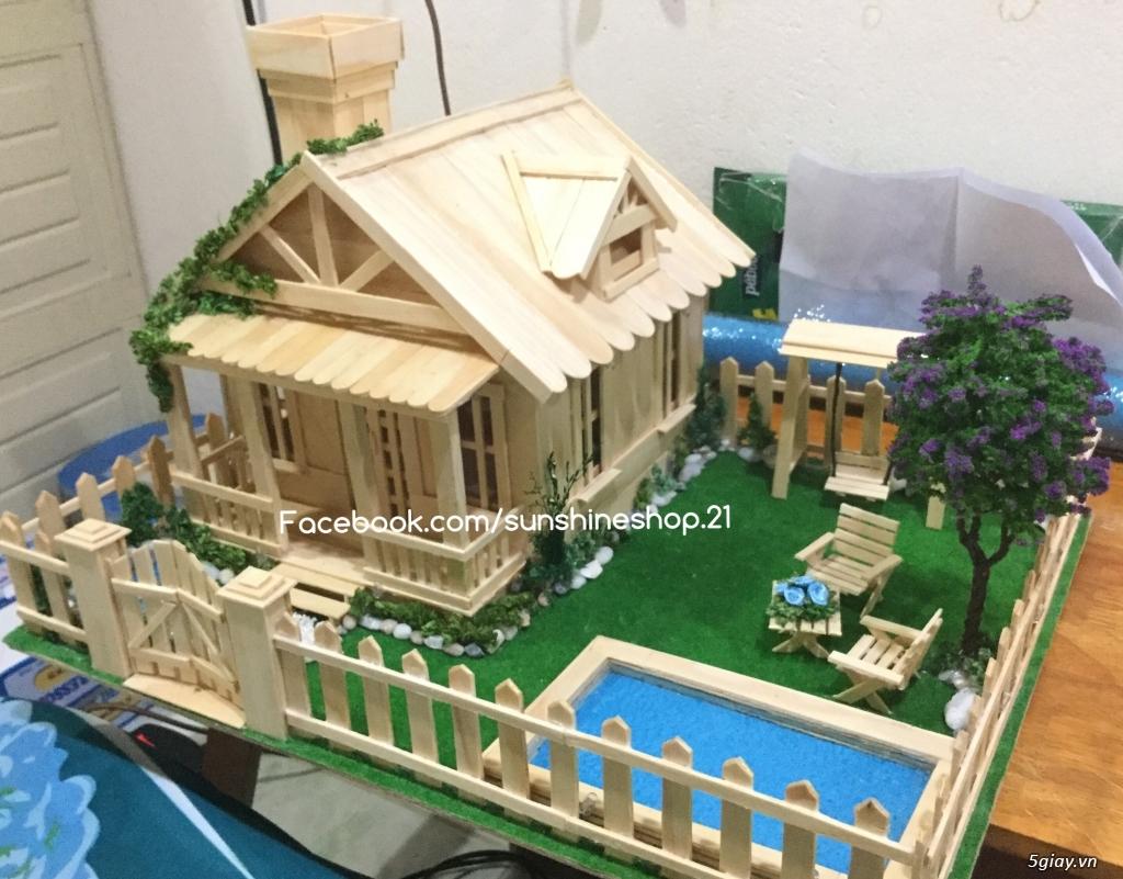 SunShineShop - Nhận đặt làm mô hình nhà que theo yêu cầu - 24