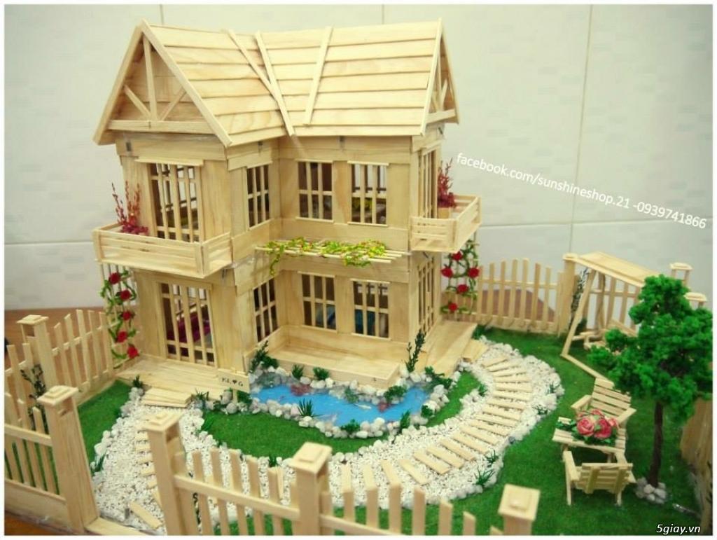 SunShineShop - Nhận đặt làm mô hình nhà que theo yêu cầu - 36