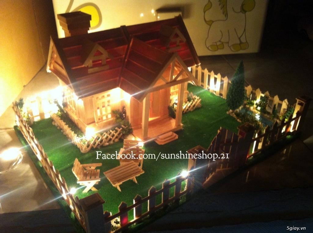 SunShineShop - Nhận đặt làm mô hình nhà que theo yêu cầu - 31