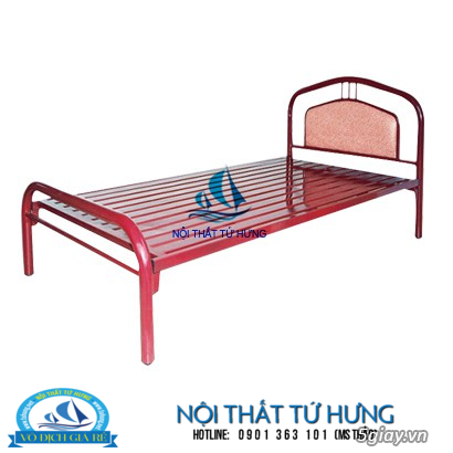 Giường sắt đơn 80cm giá rẻ tại hcm - 16