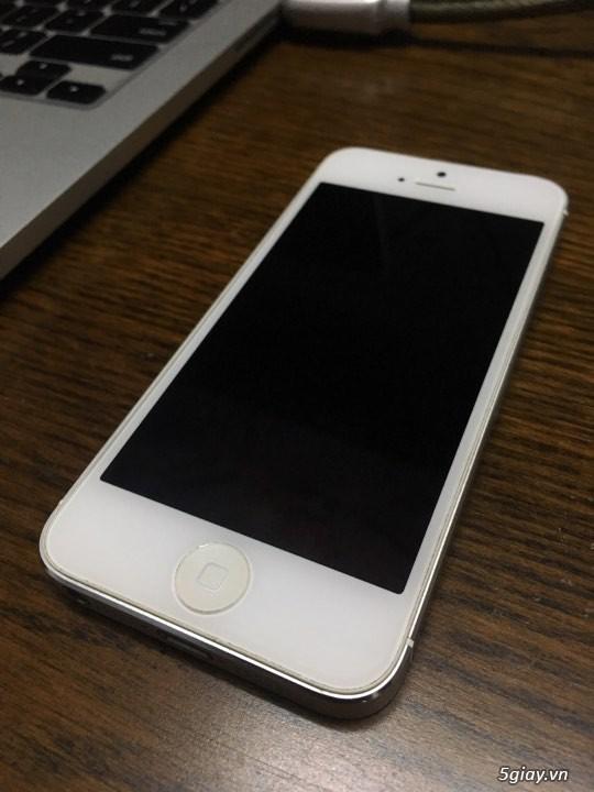 iPhone 5 Silver quốc tế Nhật bộ nhớ khủng 64GB, còn đẹp giá cũng đẹp - 4