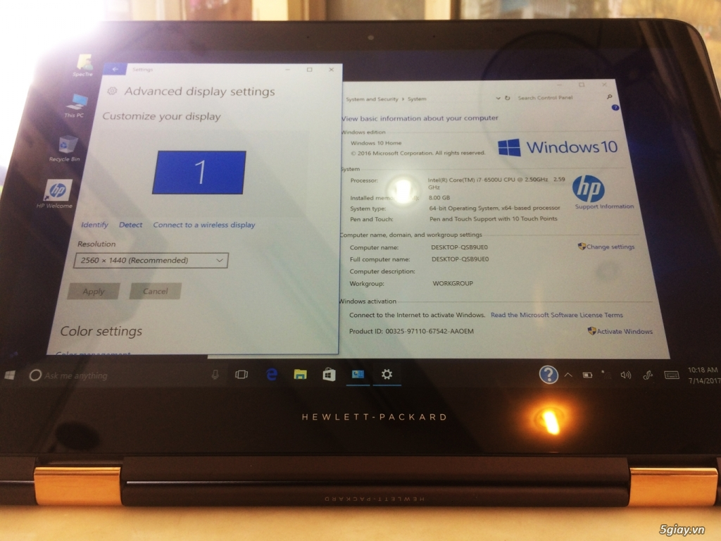 HP ZBook 15U G3, Core i7-6600U, 8G-SSD512, AMD Radion R7 350M, 99% - 5