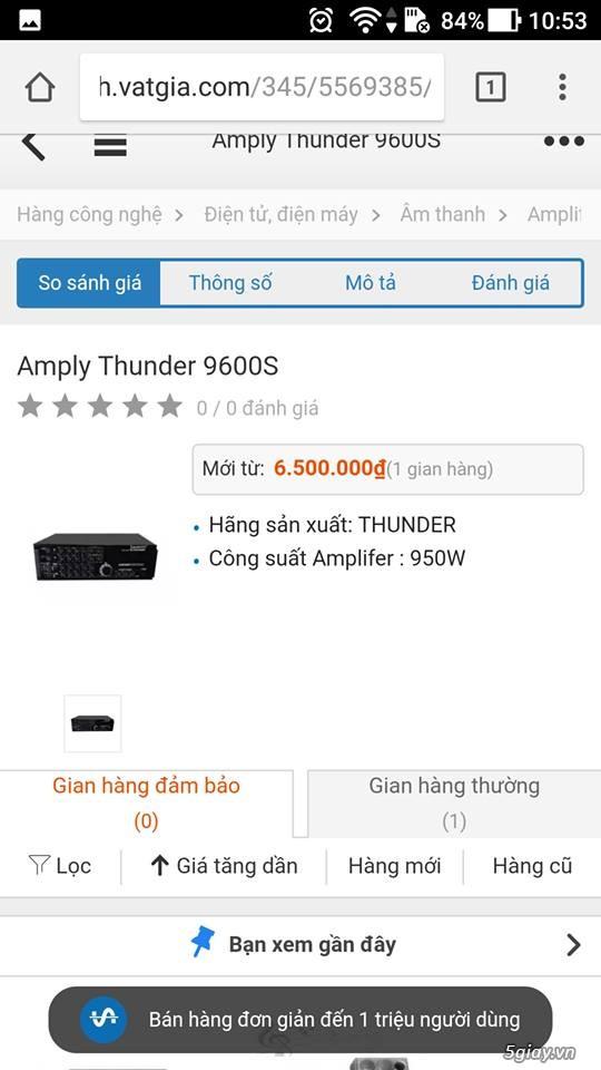 AMPLY thunder 9600s 16 sò lớn cực mạnh, chính hảng bảo hành 2 năm - 2
