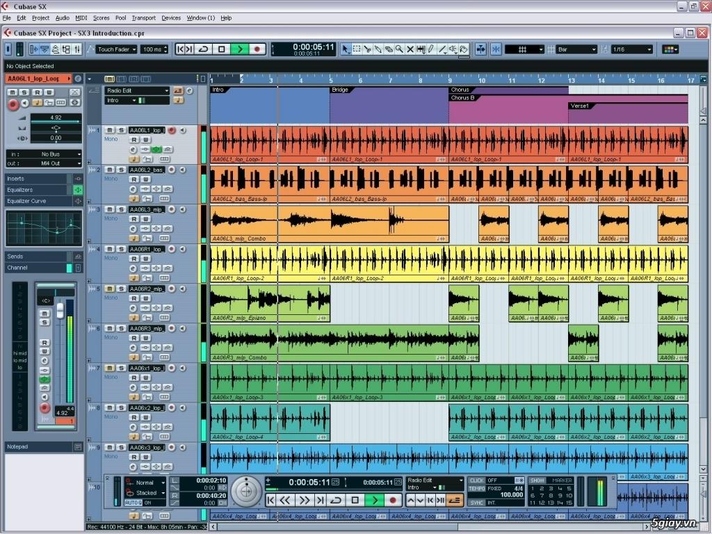 Bán đĩa DVD Hướng Dẫn Mix Nhạc Vocal thu âm Cubase , Sonar 8.5,...