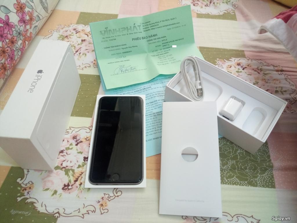 Cần bán iPhone 6 Plus Quốc Tế (LL-Grey 16GB) Đẹp 99% - Fullbox - 1