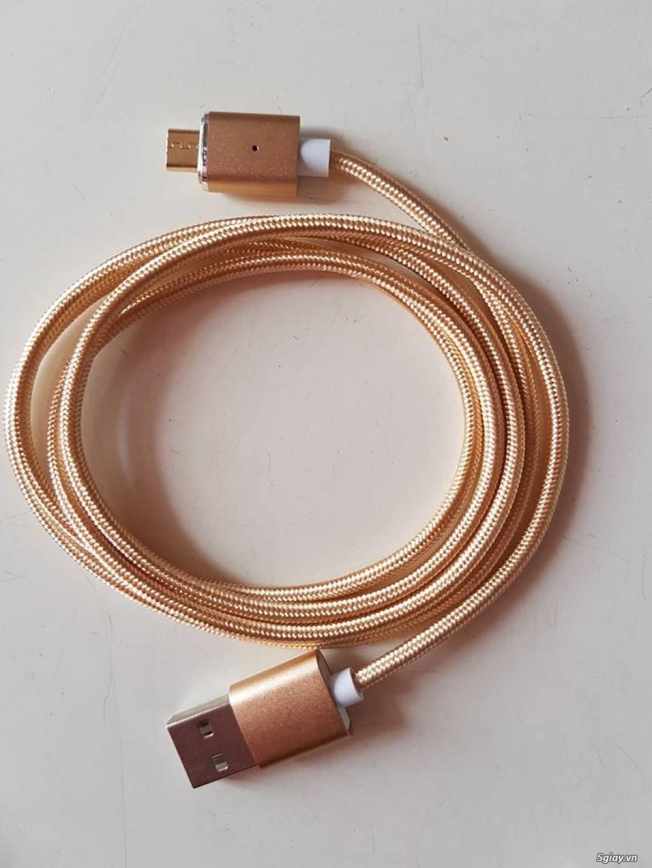 Cáp sạc Nam châm vỏ đan nilon Magenetic CABLE - Freeship HCM - 1