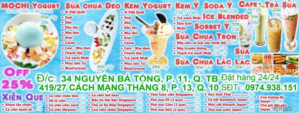 Clammy Yogurt and Cream: Sữa chua dẻo, Trà sữa, Kem Ý, Soda, Xiên que - 1