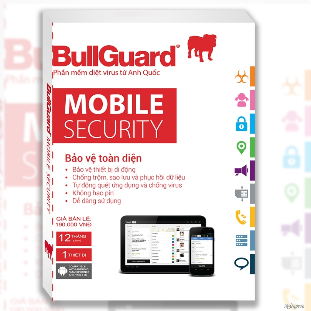 BullGuard Mobile - Tablet Security - 50k/3T + 3T Free = 6 Tháng - 6