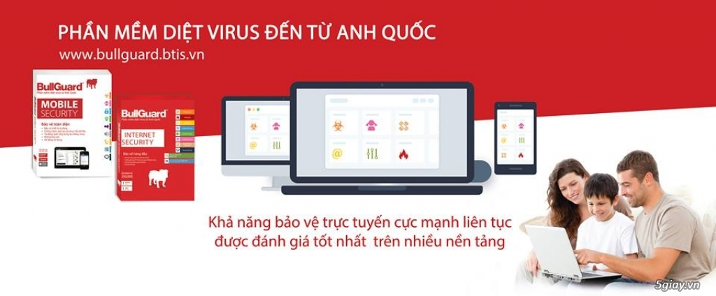 BullGuard Mobile - Tablet Security - 50k/3T + 3T Free = 6 Tháng