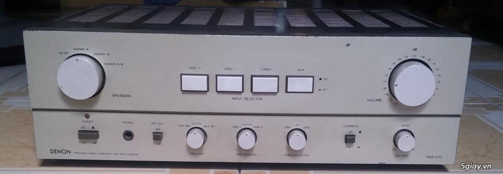 Amply denon pma-880r,DENON PMA 750,PMA 630,Pre-Pow Diatone P610-A610 - 5