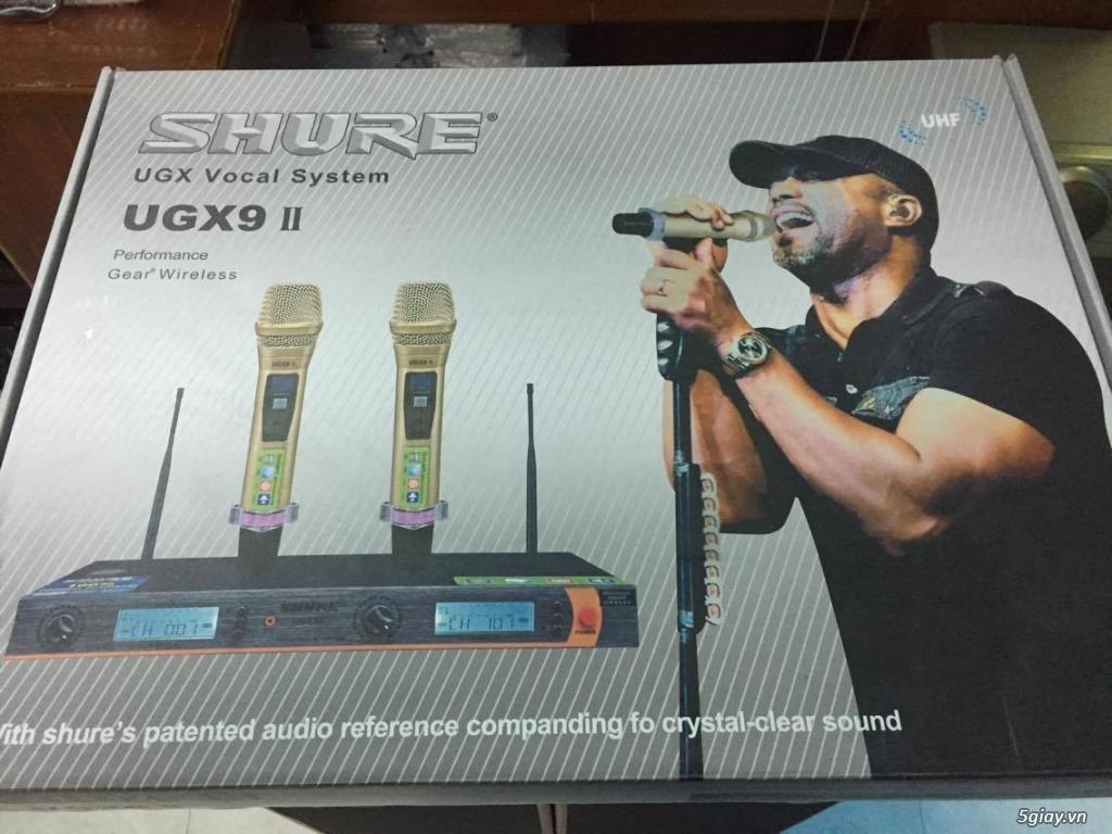 Micro Shure UGX9 II hàng loại 1 cao cấp , chuyên karaoke ,hội trườn... - 2