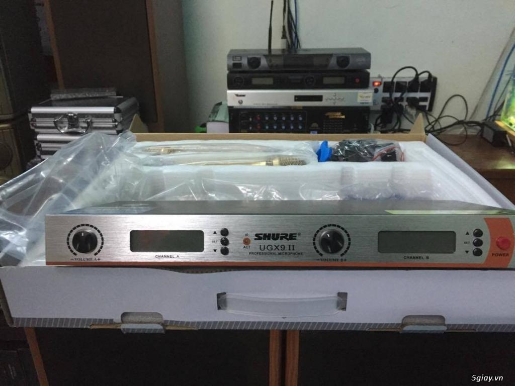 Micro Shure UGX9 II hàng loại 1 cao cấp , chuyên karaoke ,hội trườn... - 1