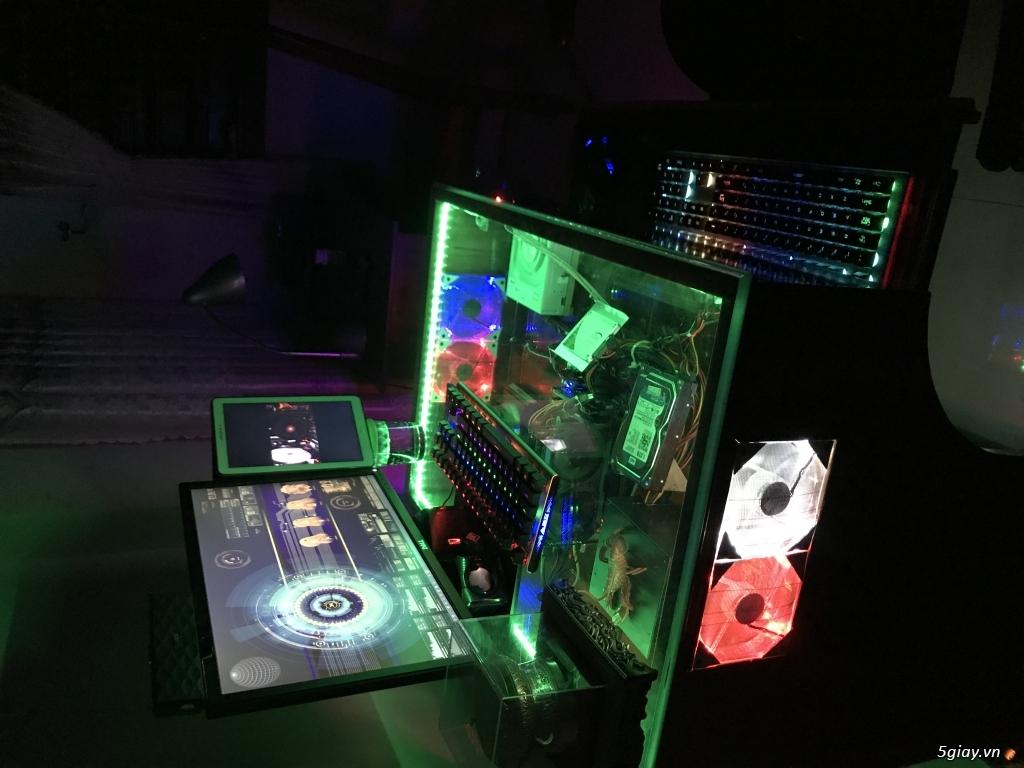 Bán Bàn máy tính chuyên game Profesional X2 Full Led RGP đổi màu