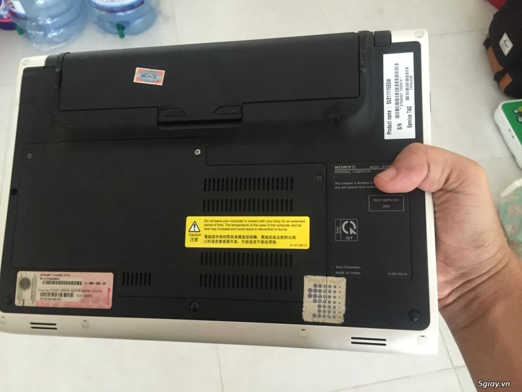 Laptop Sony Vio 12 inch ( Code : sve11115eg) SSD 128G, Ram 4G - 1