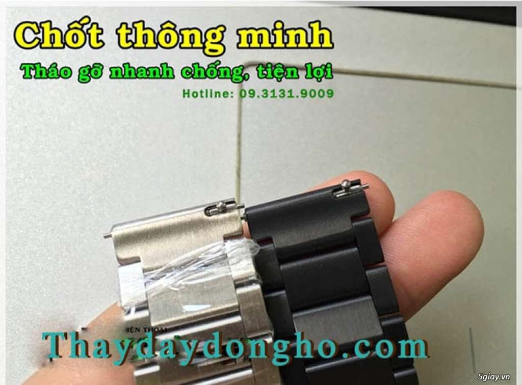 Thay dây đồng hồ Gear s2 - s3, LG watch, moto 360, Apple , fitbit.... - 16