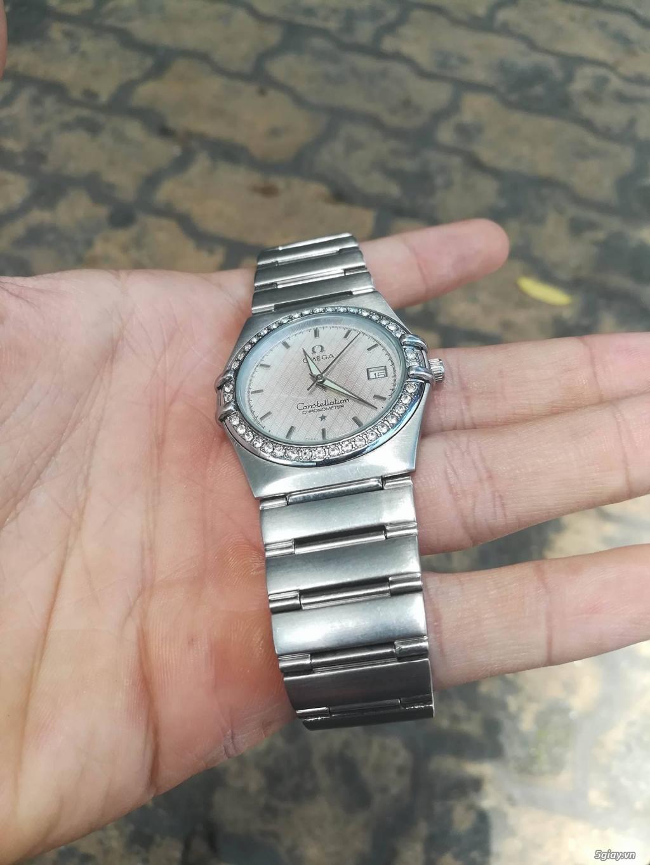 đồng hồ omega constellation dây thép loại 1:1 rất đẹp,đính đá - 3