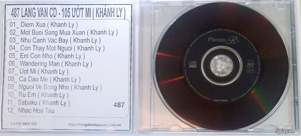 Đĩa Nhạc CD Phono Mitsubishi Chất Lượng Cao - 26