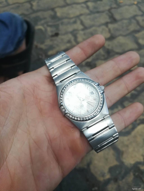 đồng hồ omega constellation dây thép loại 1:1 rất đẹp,đính đá - 1