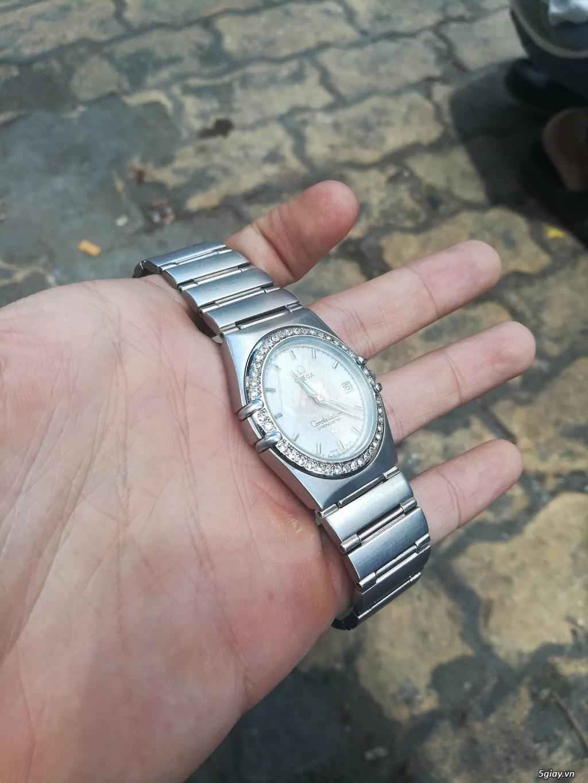 đồng hồ omega constellation dây thép loại 1:1 rất đẹp,đính đá - 2