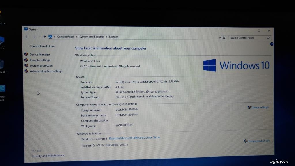 Can ban Dell E6230 Core i5 3340M